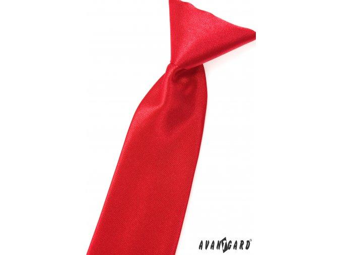Zářivě červená chlapecká jednobarevná kravata