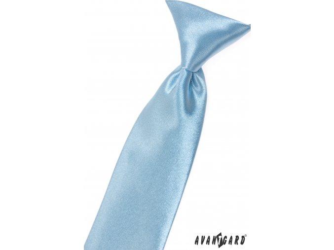 Světle modrá chlapecká kravata bez vzoru