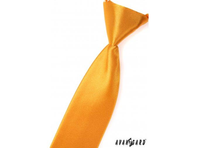 Zlatá dětská jemně lesklá kravata