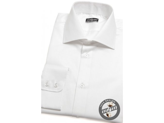 Bílá pánská košile, dl.rukáv, 509-01