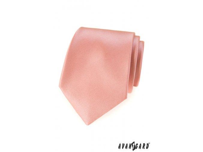 Pudrová luxusní kravata