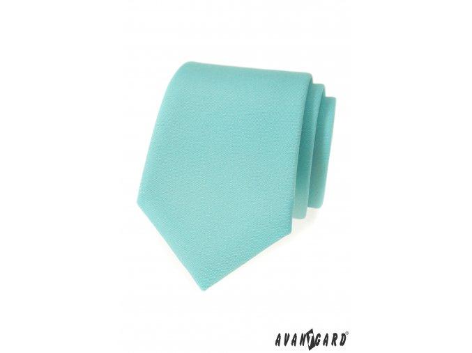 Mátová matná luxusní kravata