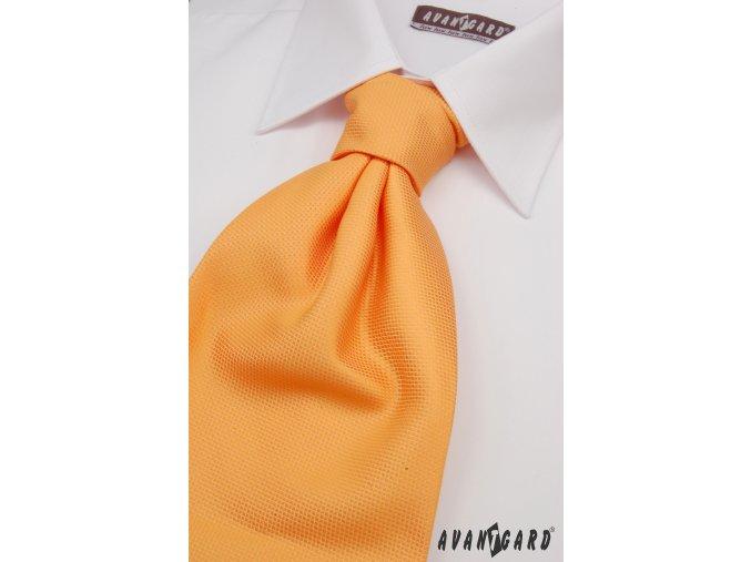 Oranžová regata s jemným rýhováním + kapesníček _