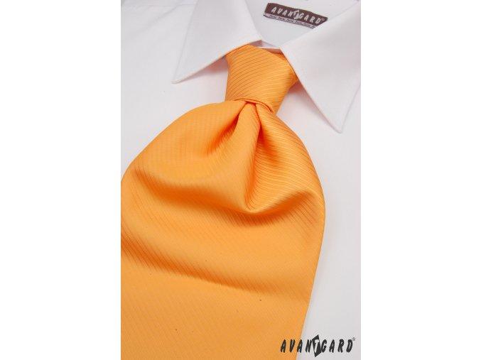 Světle oranžová regata s lehce viditelnými proužky + kapesníček _