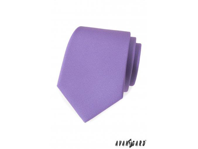 Lila luxusní matná kravata