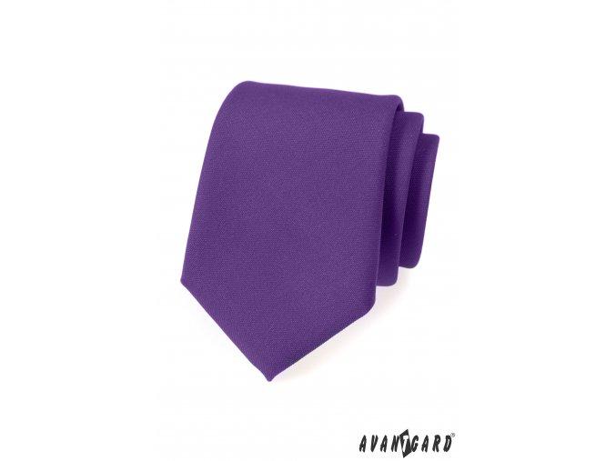 Fialová luxusní matná kravata