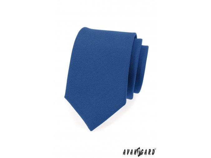 Královsky modrá luxusní kravata