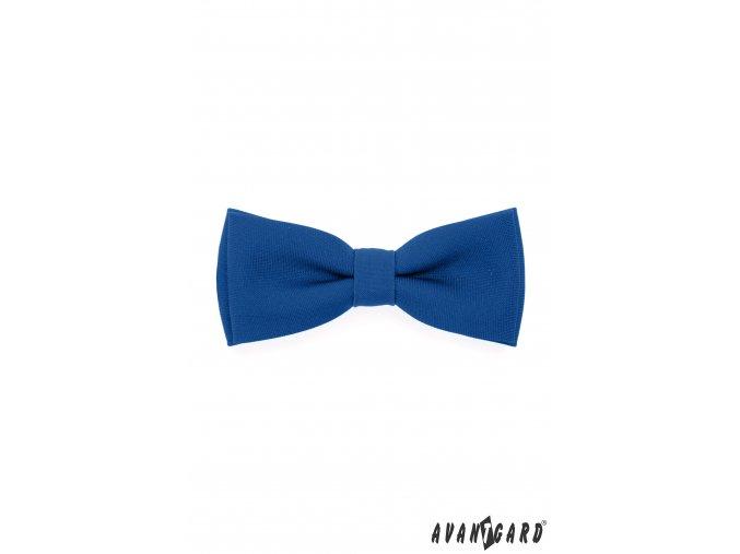 Královsky modrý matný pánský motýlek + kapesníček do saka