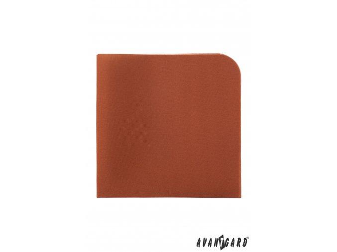 Skořicově hnědý luxusní kapesníček