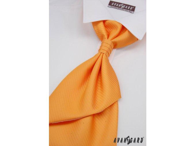 Oranžová regata s rýhováním + kapesníček _