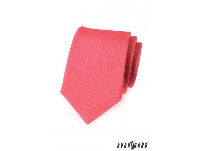 Korálová luxusní kravata