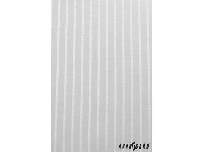 Pánská bílá luxusní košile s jemnými pruhy na manžetové knoflíčky 512-2111