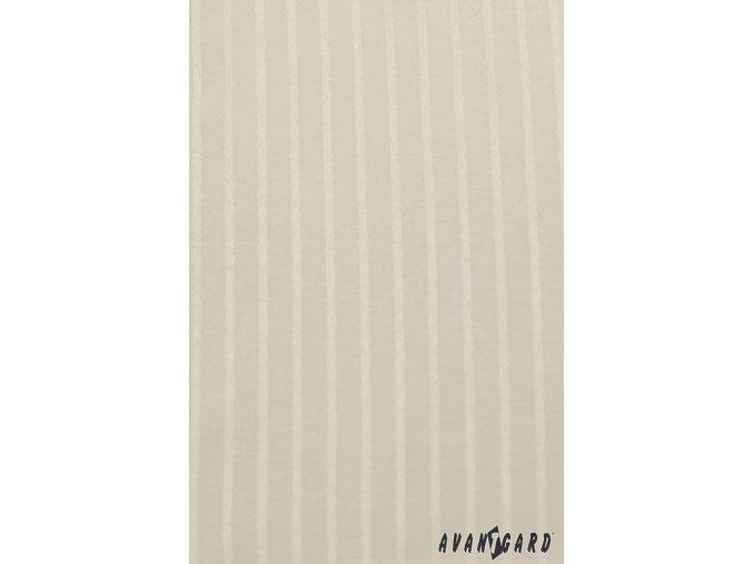Pánská smetanová luxusní košile s jemnými proužky na manžetové knoflíčky 512-1103