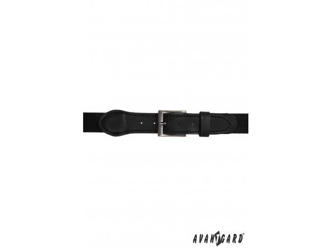 Černý pánský pásek - černá kůže