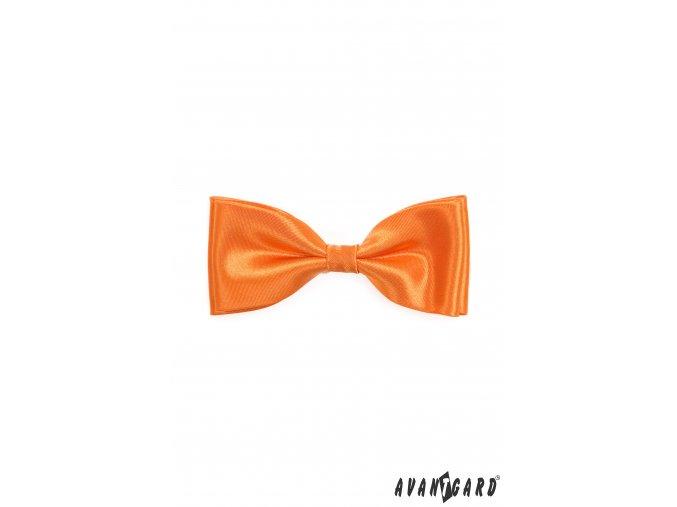 Oranžový jednobarevný pánský motýlek