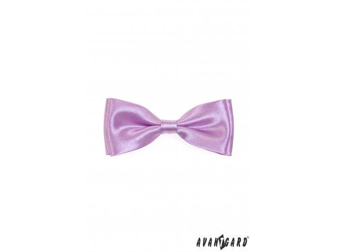 Světle fialový jednobarevný pánský motýlek