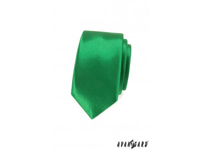 Zelená slim luxusní kravata