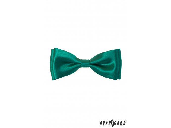 Zelený pánský jednobarevný motýlek
