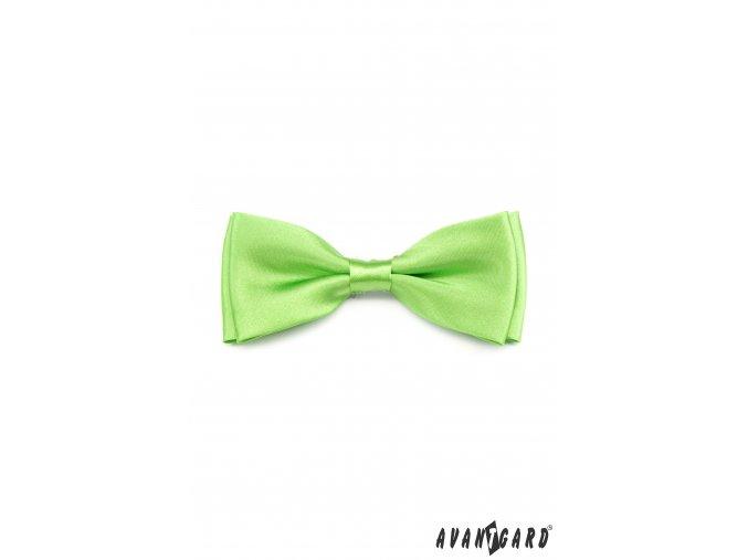 Světle zelený pánský jednobarevný motýlek