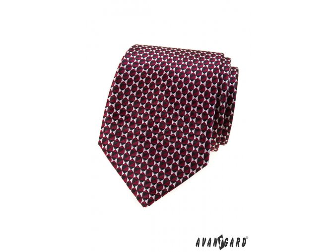 Bordó světle vzorovaná kravata