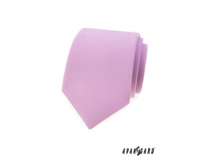 Lila matná luxusní kravata