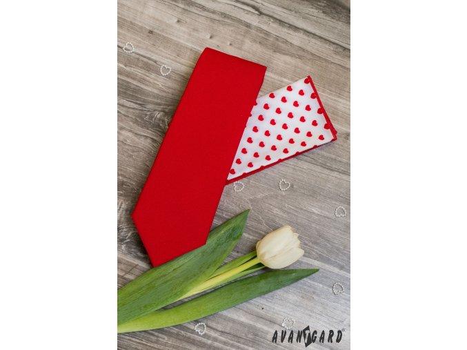Červená jednobarevná luxusní pánská kravata