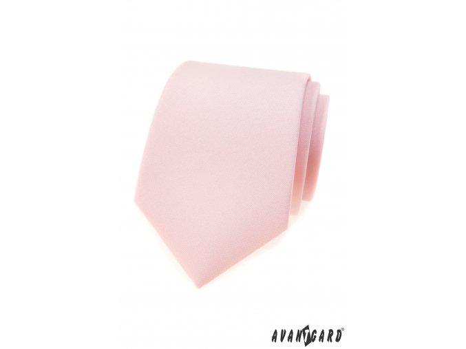 Lososová luxusní pánská kravata