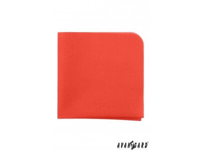 Oranžový luxusní kapesníček do saka