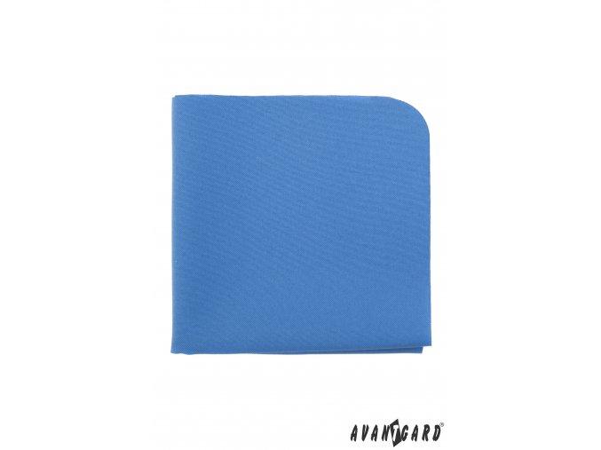Modrý matný luxusní kapesníček do saka