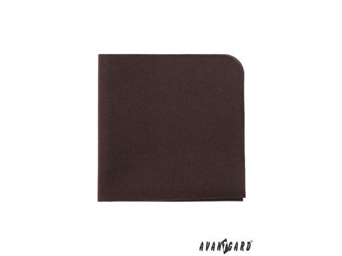 Tmavě hnědý luxusní kapesníček do saka
