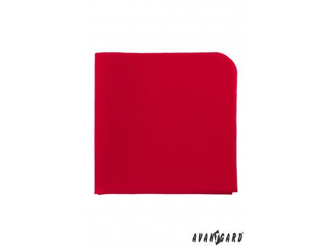 Červený luxusní kapesníček do saka