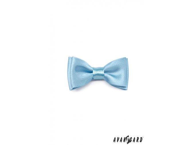 Světle modrý MINI chlapecký jednobarevný motýlek