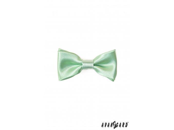 Světle zelený MINI chlapecký jednobarevný motýlek