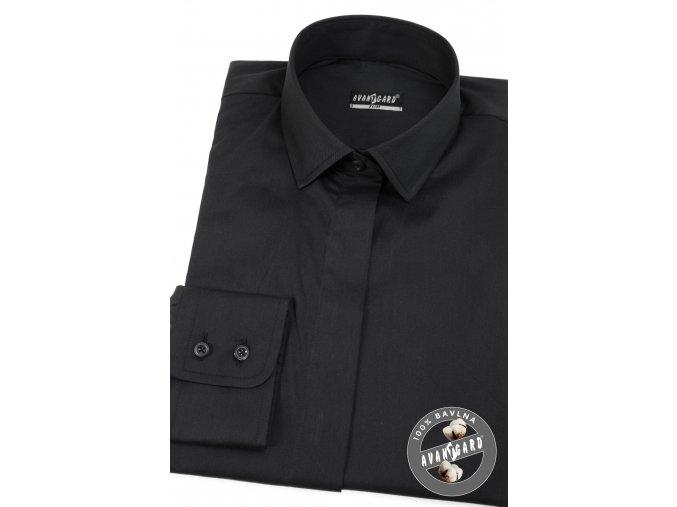 Černá dámská košile, dl.ruk., 721-2323