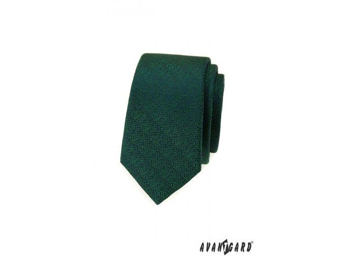 Zelená luxusní pánská slim kravata