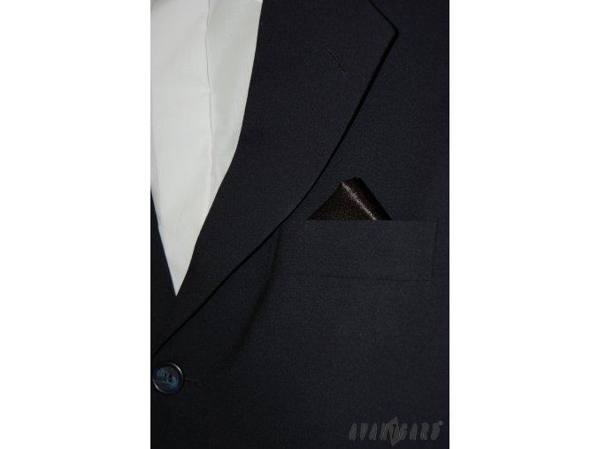 Černý jednobarevný kapesníček