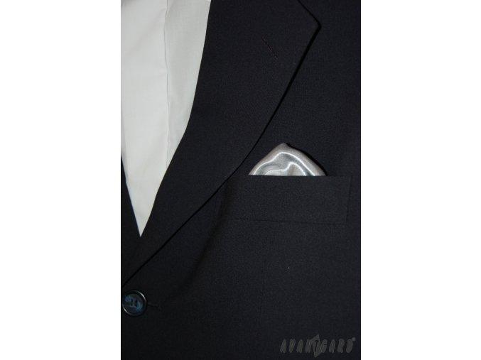 Stříbrný jednobarevný kapesníček