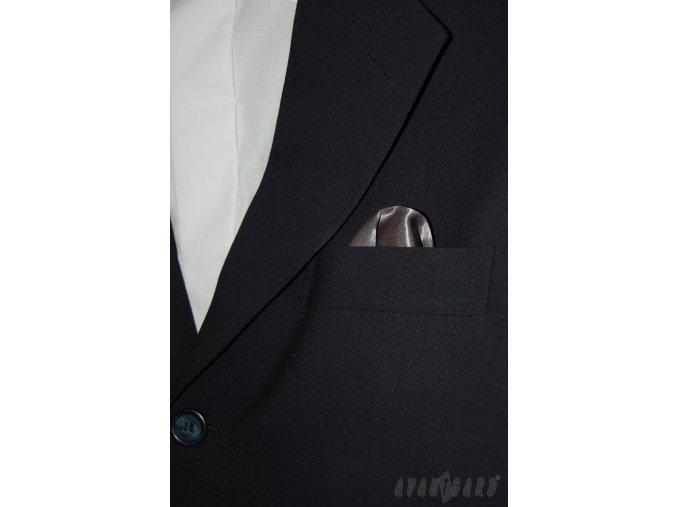 Grafitový jednobarevný kapesníček