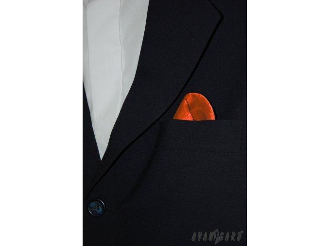 Oranžový jednobarevný kapesníček