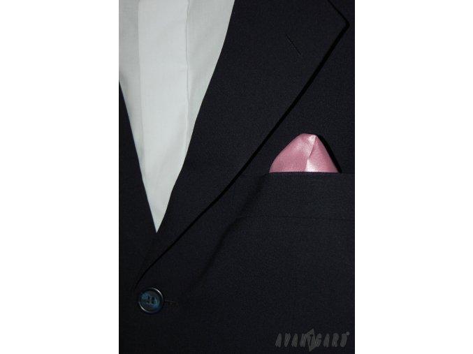 Růžový jednobarevný kapesníček
