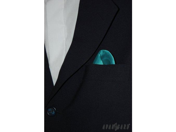 Tyrkysový jednobarevný kapesníček