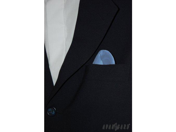 Světle modrý jednobarevný kapesníček