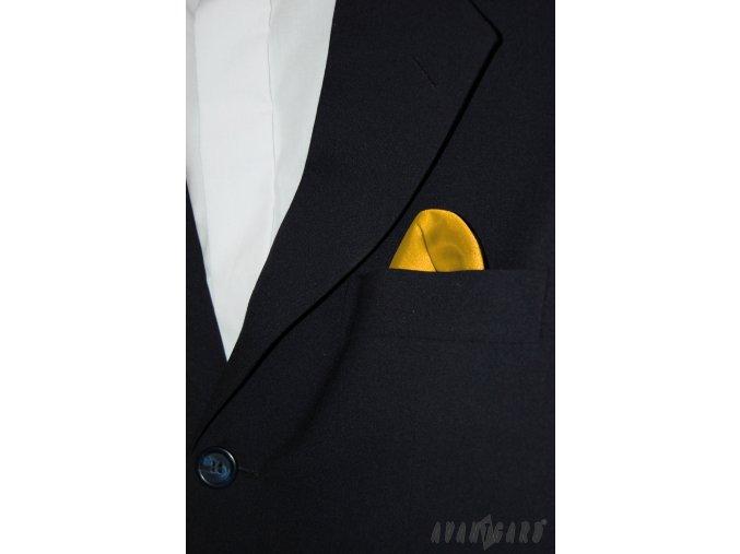Zlatý jednobarevný kapesníček