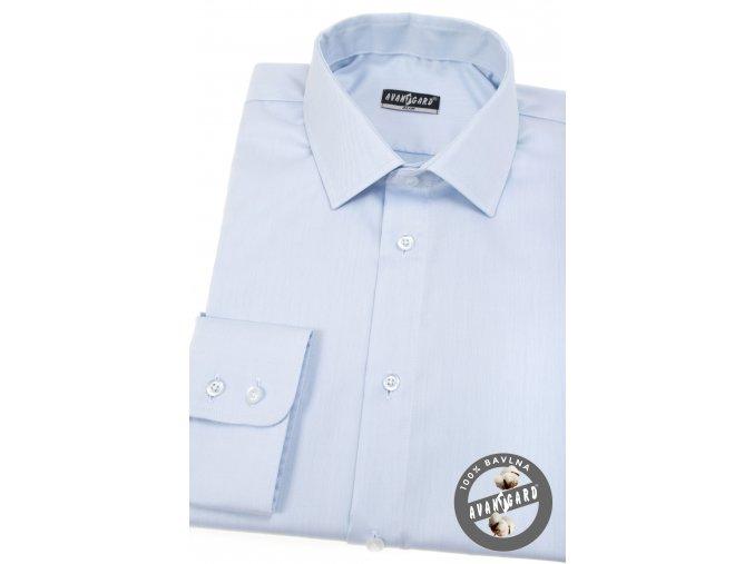 Světle modrá pánská slim fit košile, dl.rukáv, 109-4911