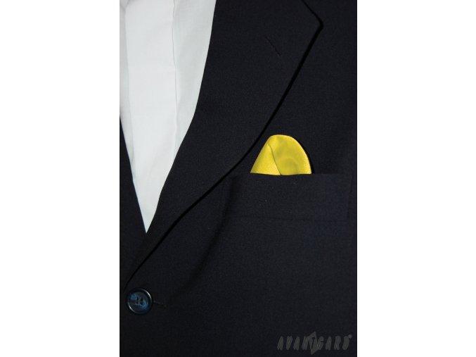 Světle žlutý jednobarevný kapesníček