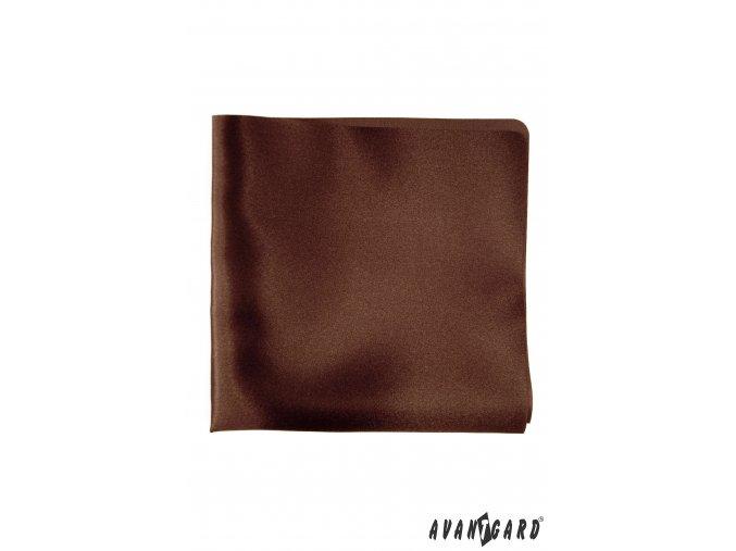 Hnědý jednobarevný kapesníček
