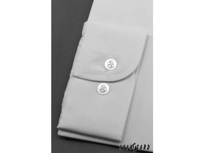 Pánská bílá košile KLASIK s krytou légou 462-1