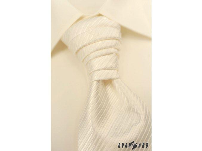 Pánská smetanová košile KLASIK s krytou légou 462-2