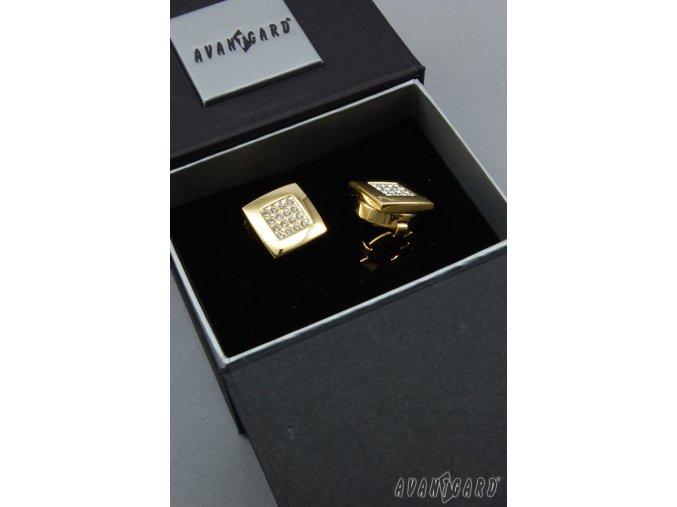 Zlaté manžetové návleky na knoflíčky