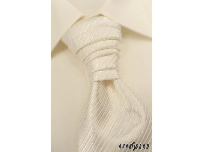 Pánská smetanová košile, krytá léga, na manžetové knoflíčky KLASIK 670-2